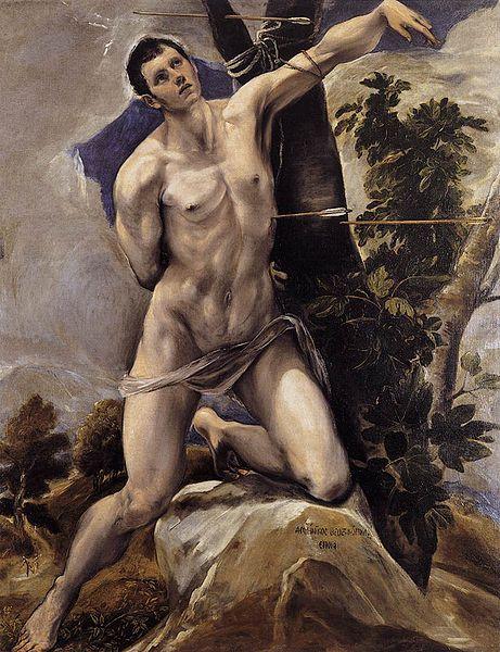 """El Greco: """"San Sebastían"""", Museo Catedralicio de Palencia."""