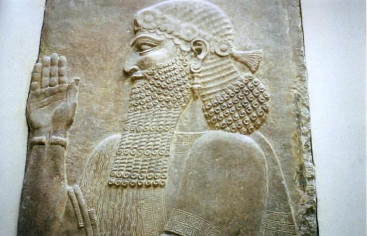 Sargón II, siglo viii a, c.. Museo del Louvre. Foto: Bárbara.