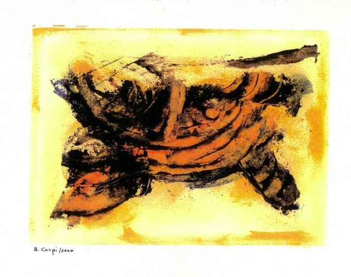 "B. Carpi: ""Encara"", Óleo sobre papel. Barcelona 2000."