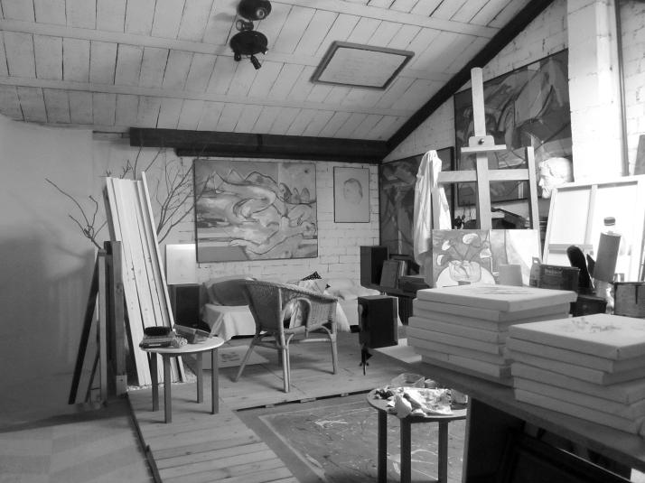 """El estudio"". Foto: Aurelio Serrano Ortiz."