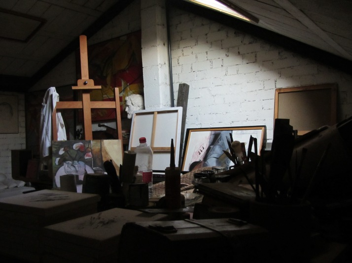"""El estudio"" Foto: Aurelio Serrano Ortiz"
