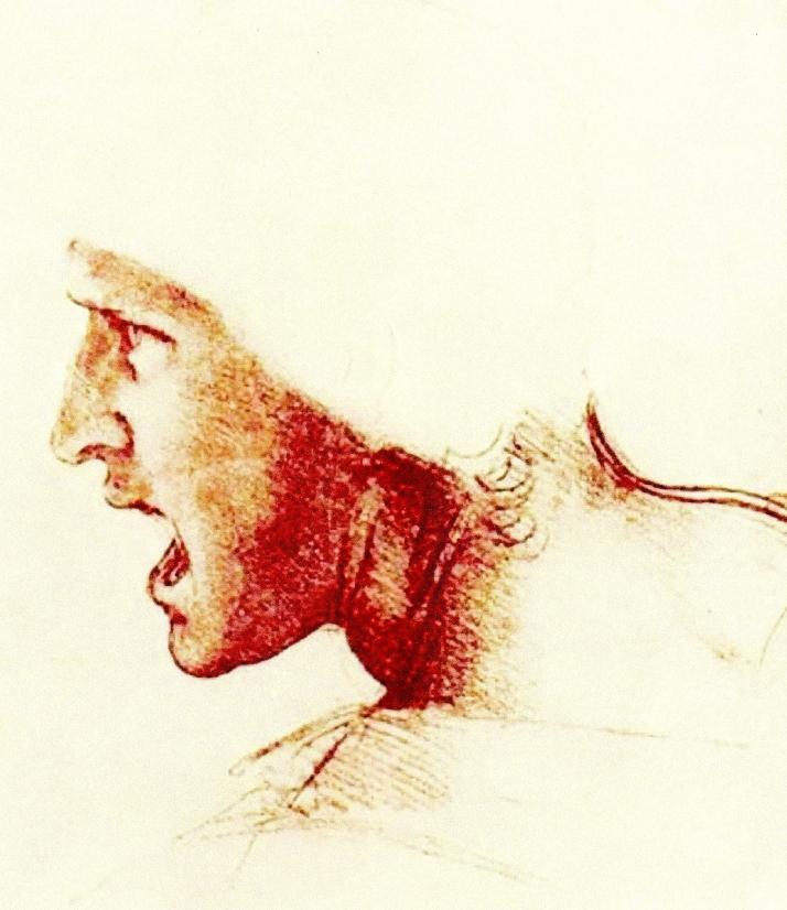 Leonardo da Vinci: dibujo a la sanguina