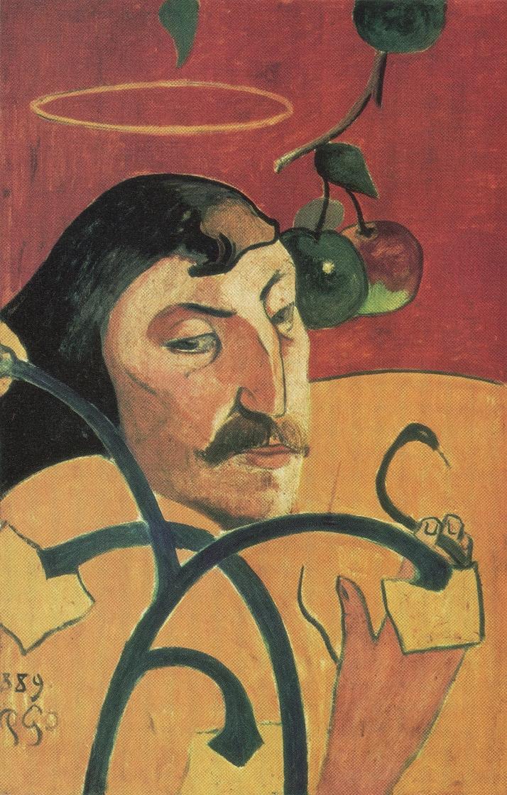 """Gauguin: """"Autorretrato con nimbo"""". Óleo sobre lienzo. 79,6 por 51,7 cm. National Gallery of Art, Washington"""