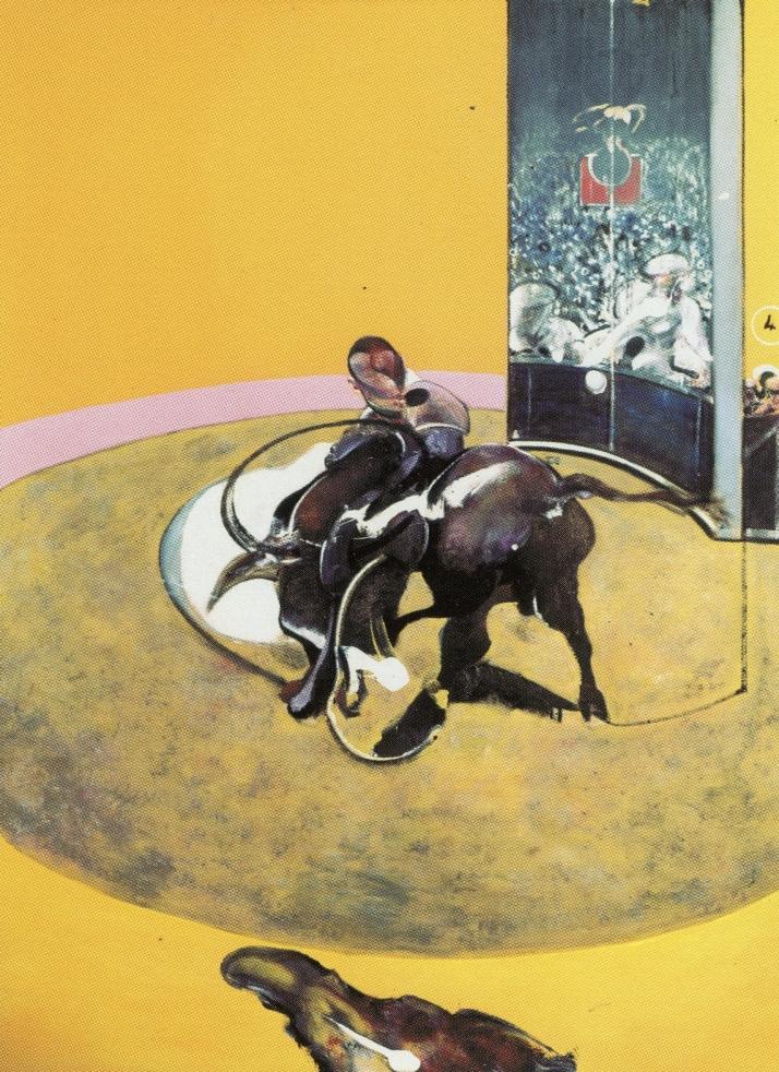 """F.Bacon: """"Estudio de corrida """", 1969."""