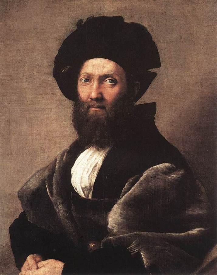 """Rafael: retrato de """"Baldassare Castiglione"""". Museo del Louvre. París."""