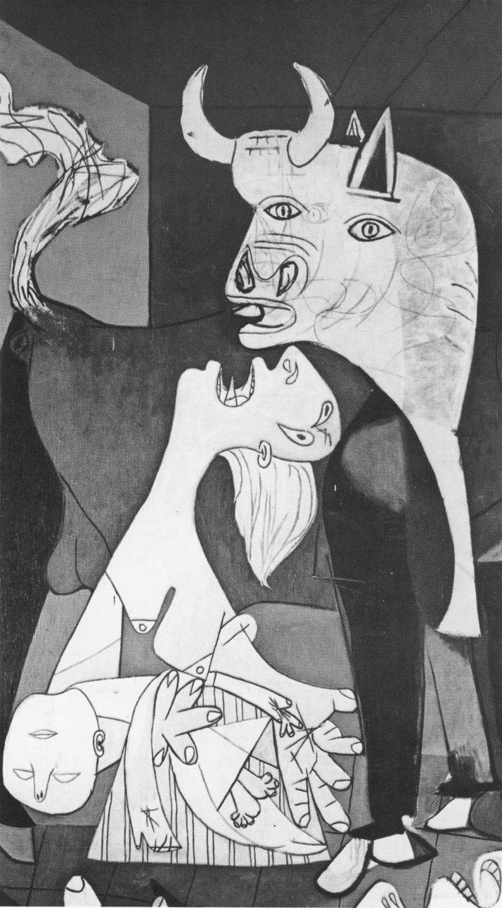 """Pablo Picasso : Fragmento del """"Guernica""""."""