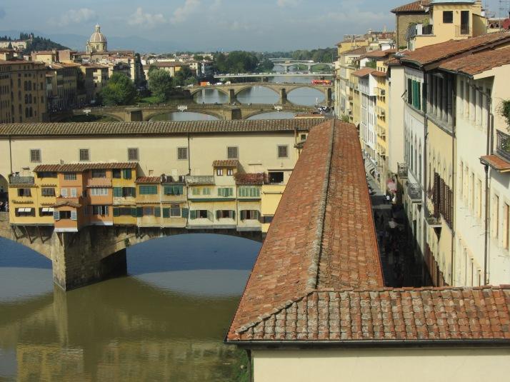 Ponte vecchio y el Corredor de Vasari. Foto:  Bárbara.