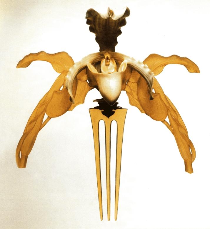 """René Lalique, """"Diadema-Orquídeas"""". 18X 16 cm,"""