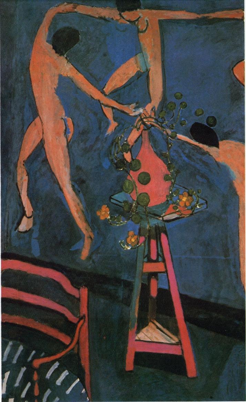 """Matisse: """"Nasturtiums y La Danza"""", 1912. Óleo sobre lienzo (190,5 x 114,5 cm.) Muaeo de Bellas Artes Pushkin, Moscú."""