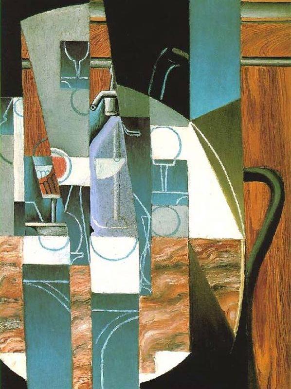 """Juan Gris, """"El Sifón"""". Óleo sobre tela."""