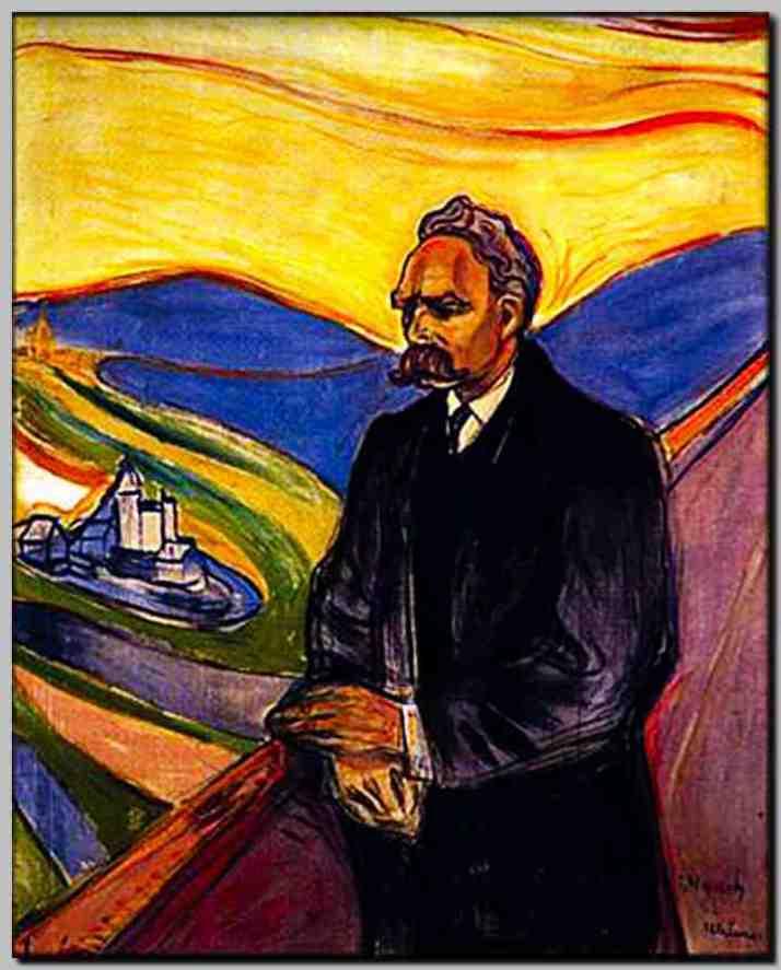 Retrato de Niezsch realizado por Munch