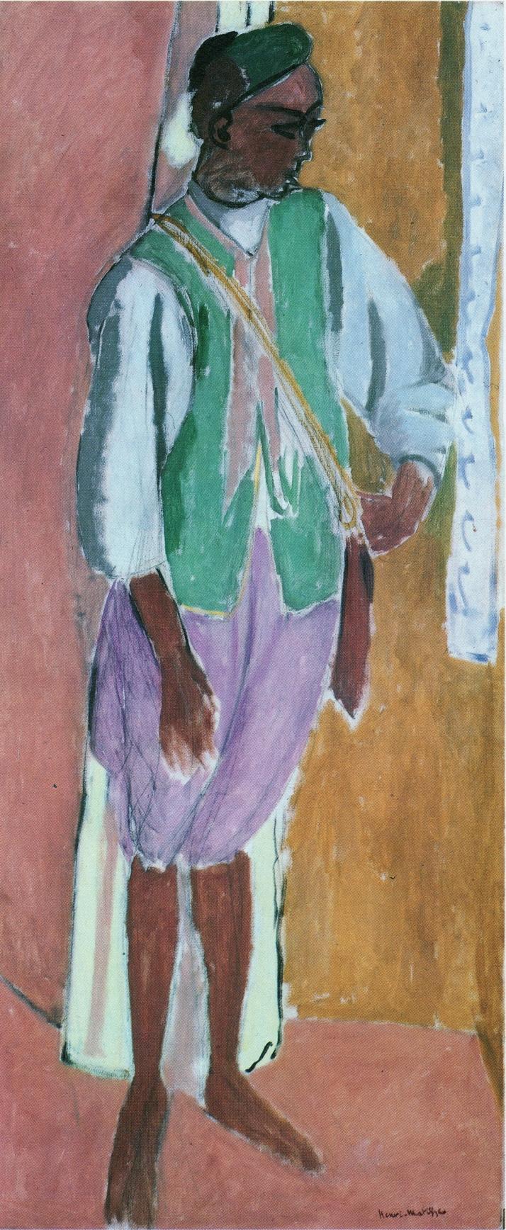"""""""El marroquí Amido"""", Matisse, óleo sobre tela. 146x 61cm. 1912"""