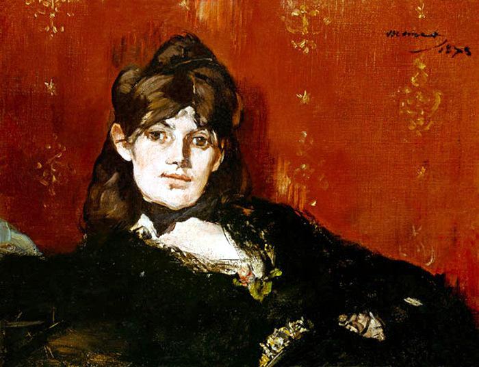 "E.  Manet: ""Berthe Morisot reclinada"""