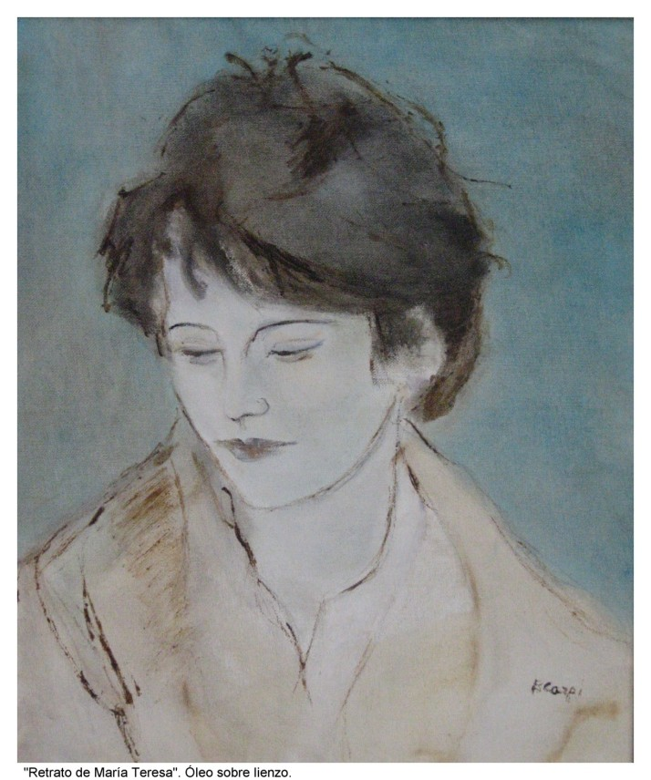 """Bárbara Carpi : """"Retrato de María Teresa""""."""