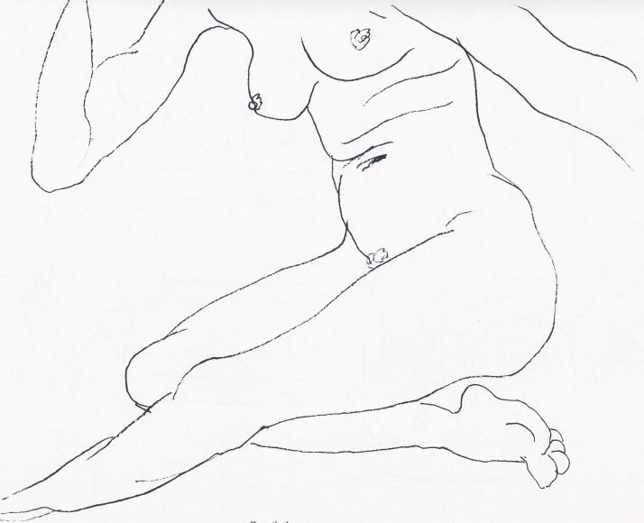 Matisse. Pencil drawing. 1921.