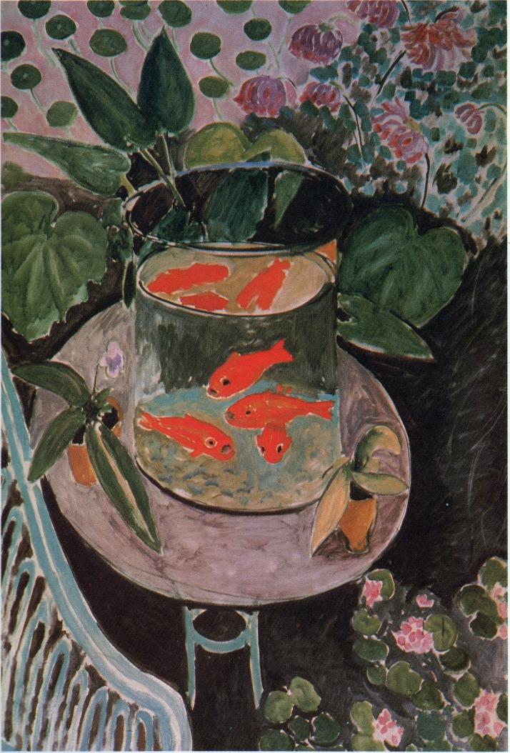 """Matisse, """"Naturaleza muerta con pececillos dorados"""". 1911.  Museo Pushkin de Bellas Artes Moscú."""