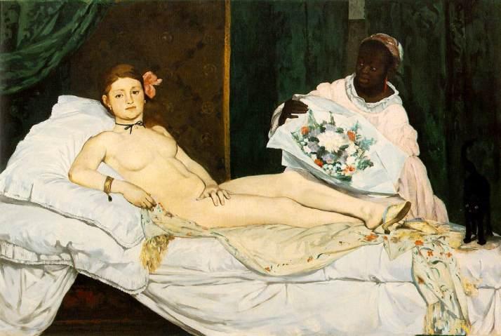 """Manet, """"Olympia"""". 1863. Óleo sobre tela. Museo de Orsay. París"""