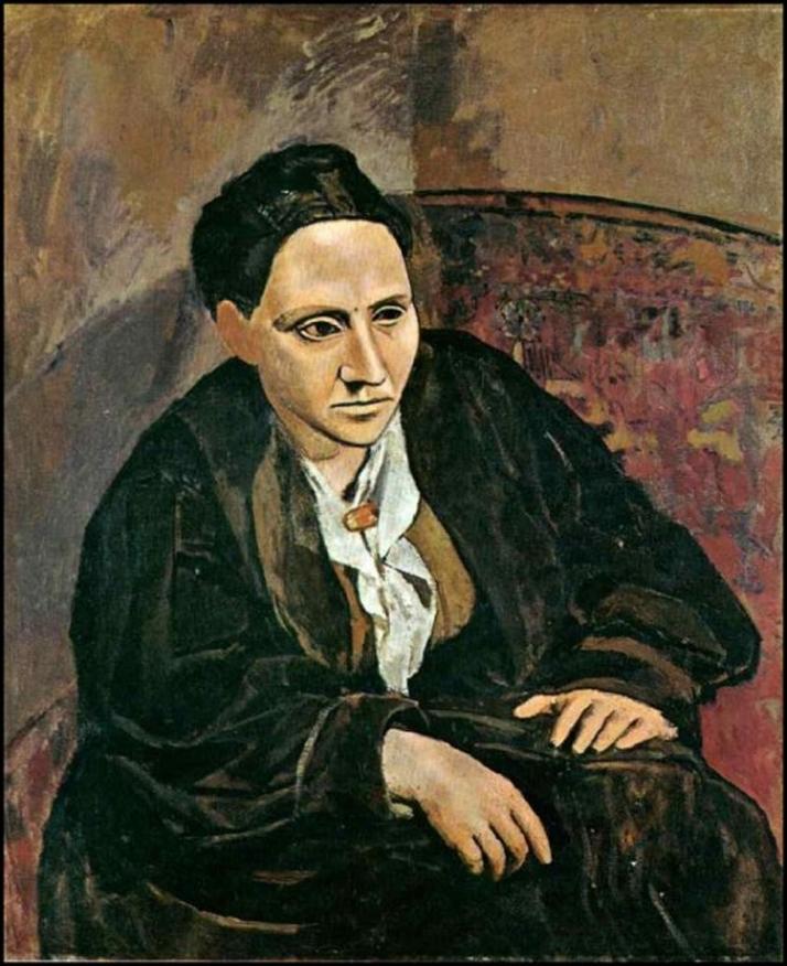 """Picasso: """"Gertrud Stein"""". Óleo sobre tela, 100 x 81. Nueva York, MOMA."""