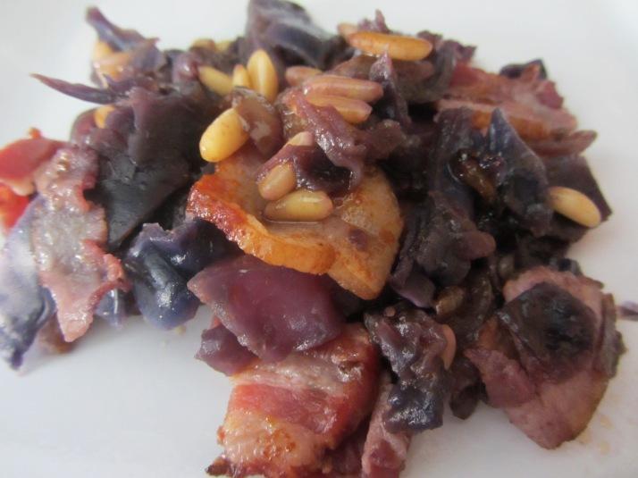 Lombarda con bacon. Foto: Bárbara.