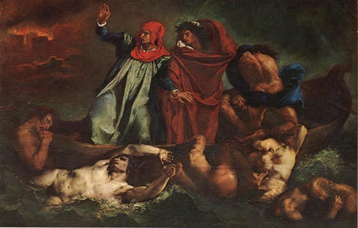 """Delacroix: """"Dante y Virgilio"""". Mueseo de El Louvre."""