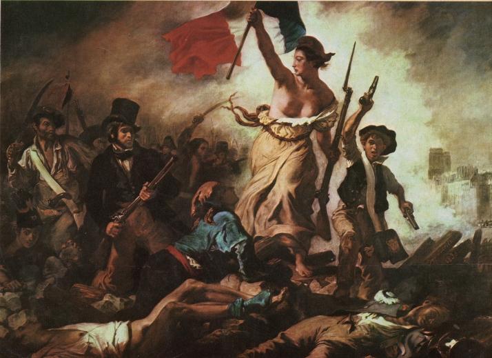 """Delacroix: """"La Libertad guiando al pueblo"""". Museo de El Louvre"""""""