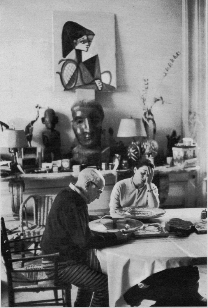 Picasso y Jacqueline. Foto de D. Duncan
