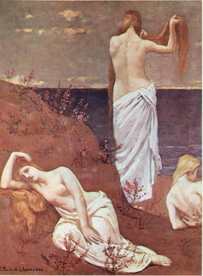 """Puvis de Chavannes: """"Jóvenes a la orilla del mar"""""""