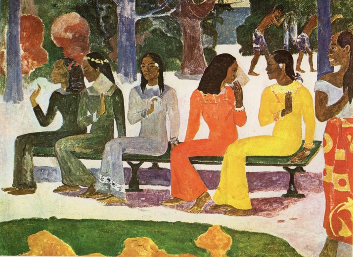 "Gauguin: ""Ta Matete"", 1892. Kunstmuseum, Basilea."