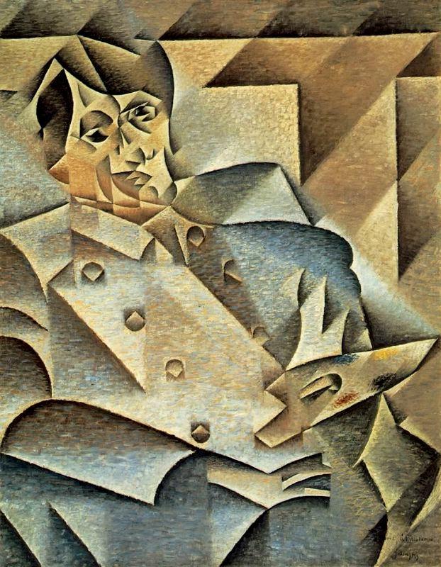"Juan Gris; ""Retrato de Pablo de Picasso""."