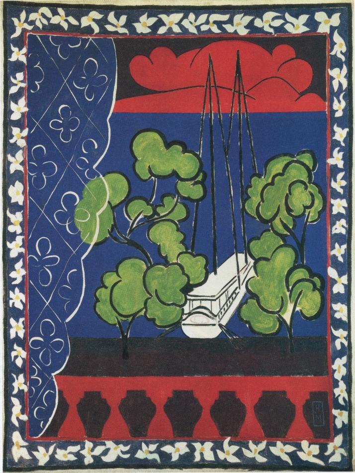 "Matisse: ""Tahití II"". Aguada sobre lienzo. 238 X185 cm.  Musée Matisse Le Cateau-Cambrésis (Francia)"