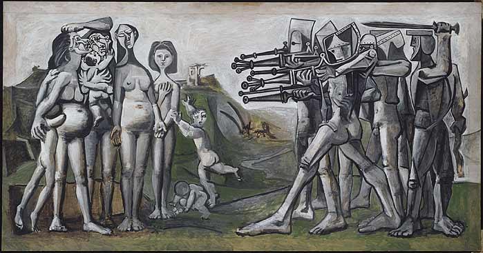 "Picasso: ""Masacre en Corea"". 1951."