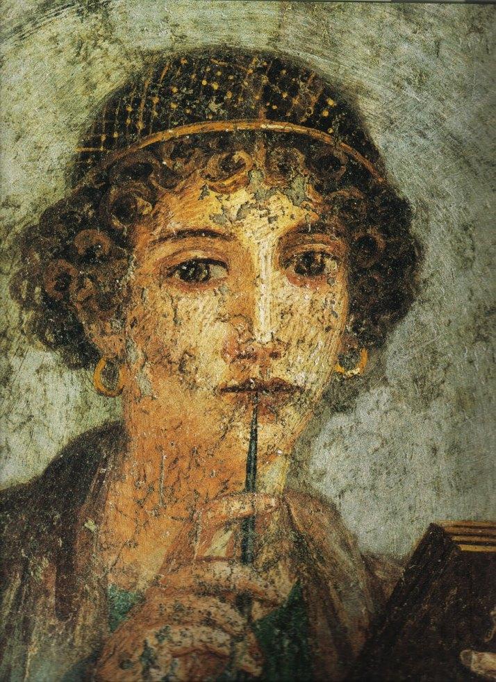 Fresco pompeyano del cuarto estilo. Museo Arqueológico de Napoles