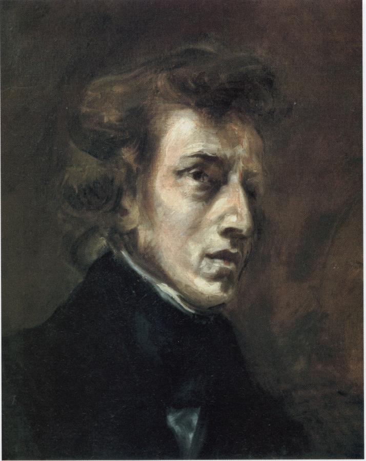 "Delaroix: ""Frédéric Chopin"". 45 X 37. Museo del Louvre."