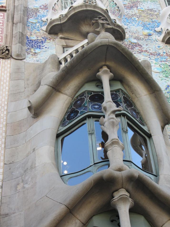 Detalle de la fachada de la Casa Batlló. Foto: Bárbara
