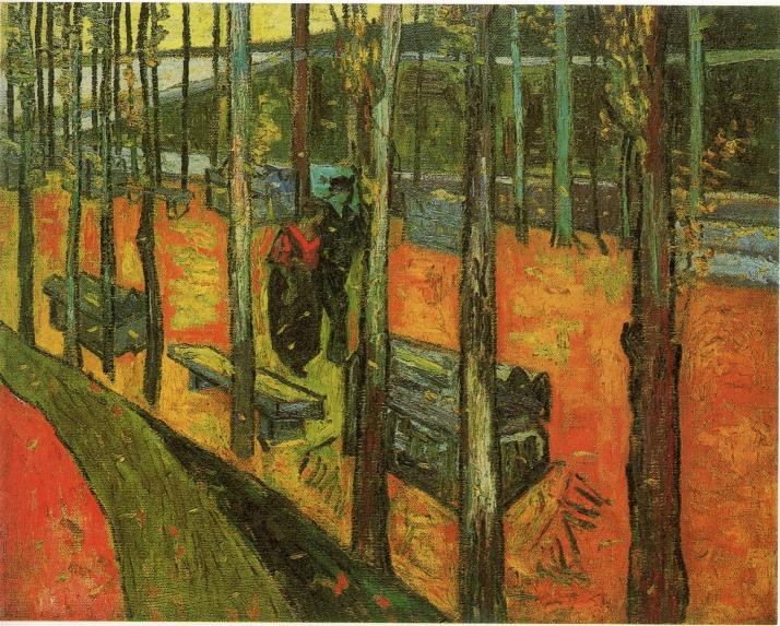 Van Gogh: Les Alyscamps, allée à Arles.