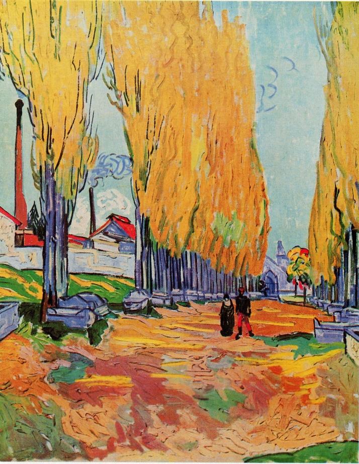 Van Gogh: Les Alyscamps, allée à Arles