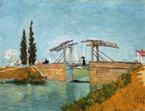 """Van Gogh: Le pont de Langlois à Arles avec dame au parapluie"""""""