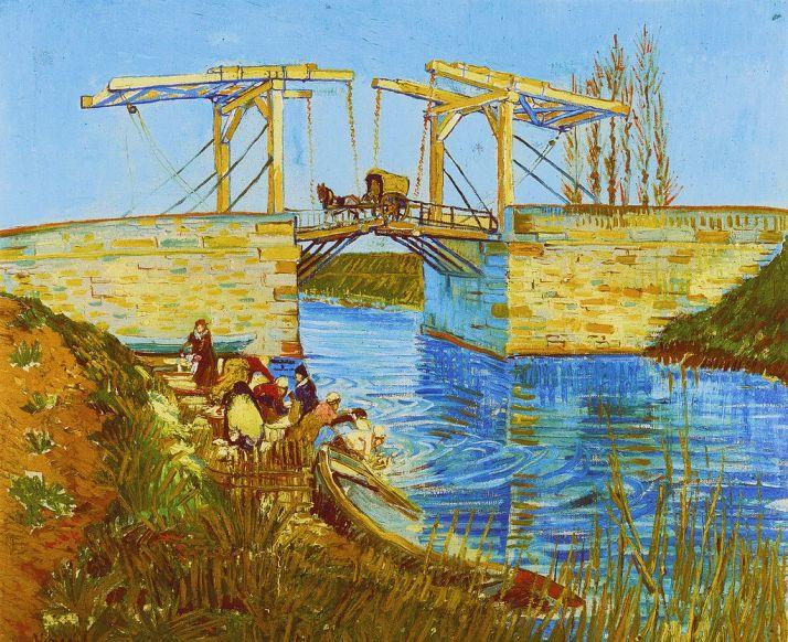 """Van Gogh:""""Le pont de Langlois"""".Óleo sobre lienzo. (59 x 74). Museo Kröler-Müller, Otterlo."""