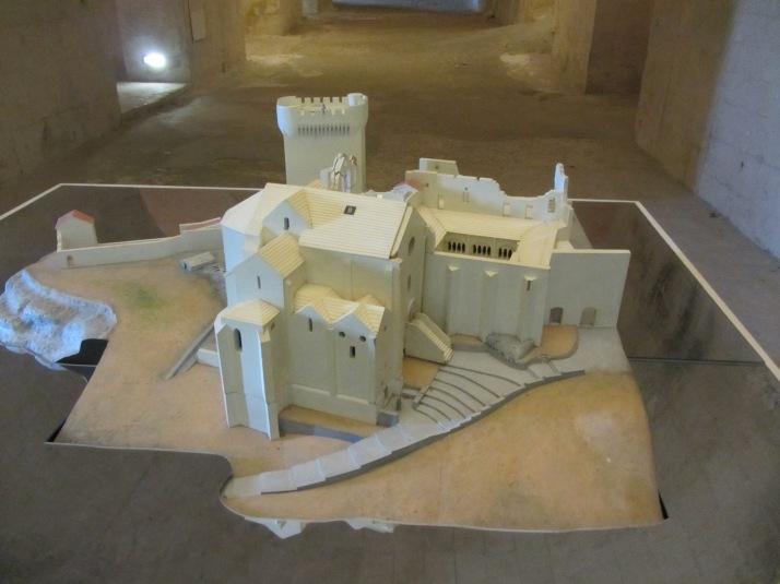 Maqueta de la Abadía de Montmajour. Foto: Bárbara.