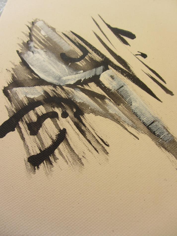 Bárbara Carpi. Acrílico sobre lienzo.