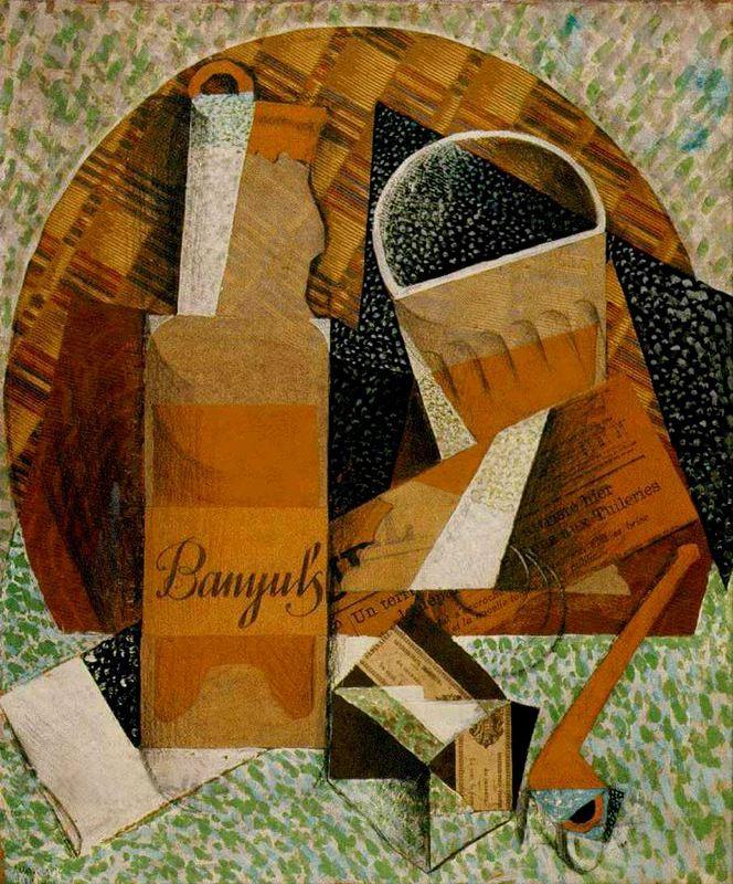 """Juan Gris: """"La botella de banyuls"""""""