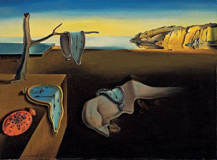 """Dalí: """"Persistencia de la memoria"""". Óleo sobre lienzo. 24 X 33 cm.  MOMA , N- Y."""