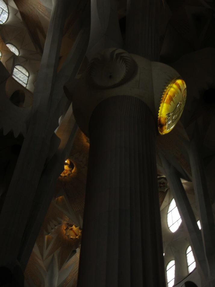 Interior de la Sagrada Familia. Foto: Bárbara