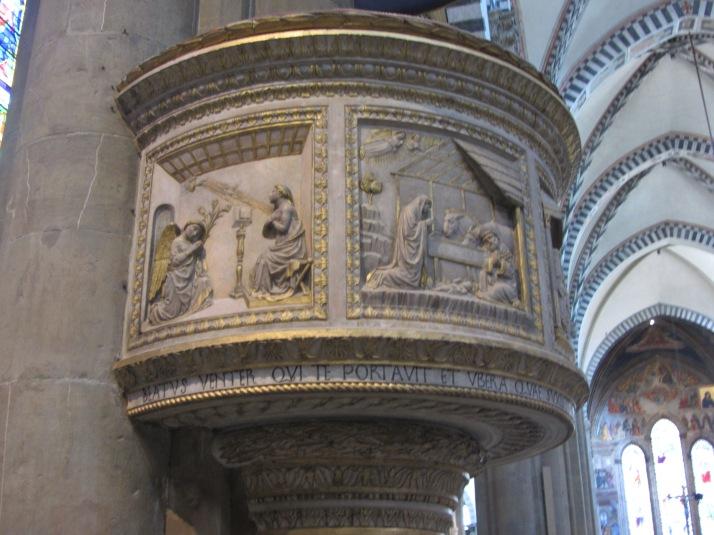 Púlpito de bronce de Donatello. Foto: Bárbara