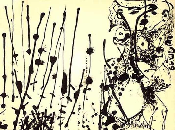 "J. Pollok: ""Number 7"". 1951.  National Gallery of Art."