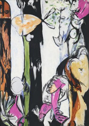 """J. Pollok: """"Easter  an totem"""".1953. MoMA."""