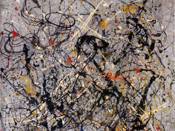 "Jackson Pollok: ""Obra número 18"". Museo Guggenheim de N.Y."