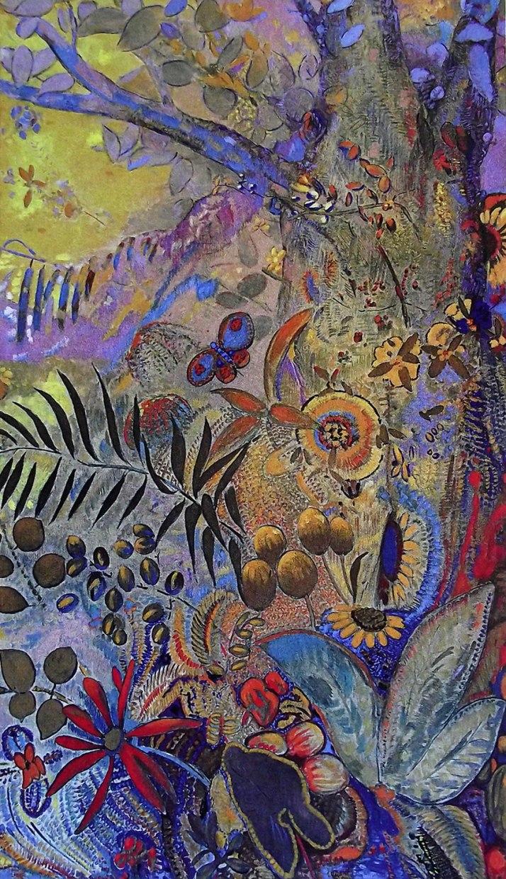 "Odilon Redon: ""El dia"". Óleo sobre lienzo. 1910."