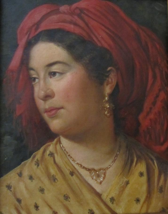 Joaquín Carpi y Ruata: Retrato de su cuñada. Óleo sobre tela. Propiedad privada.