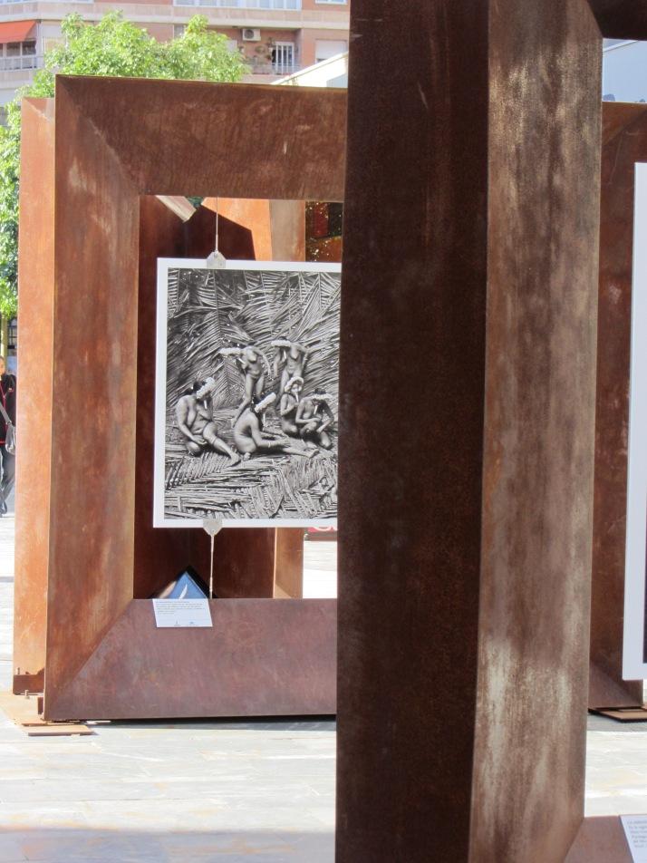 Instalación de la exposición. Murcia, Foto: Bárbara